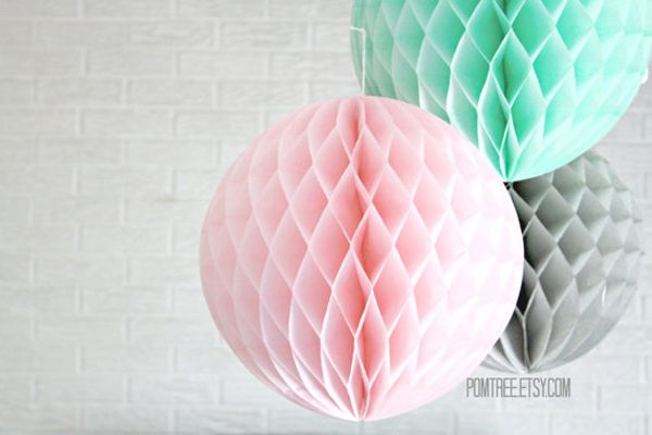 Honeycomb Lanterns are a party decor staple, but these handmade versions won't look cheap when bunched together in a coordinating color palette. $6 each from pomtree