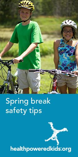 Weather you're sun-bathing in a warm climate or staying local for spring break activities - keep these physical activity safety tips in mind. http://www.healthpoweredkids.org/lessons/staying-safe-during-physical-activity/