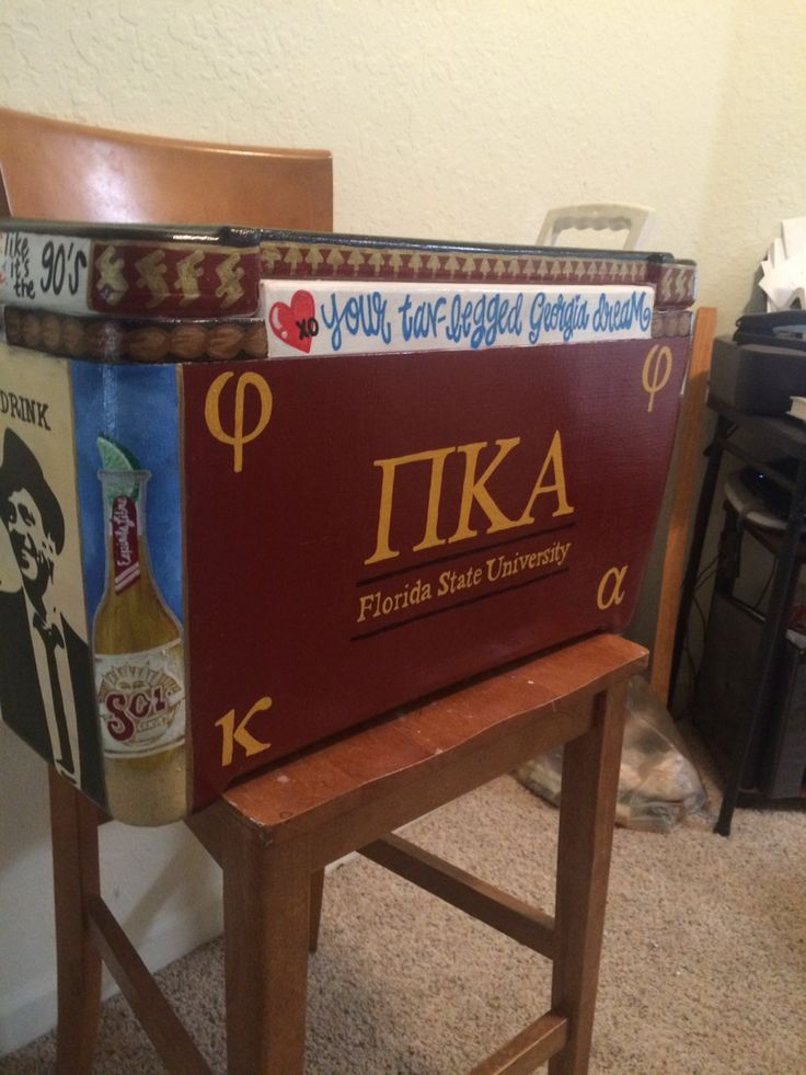 Pi Kappa Alpha New Orleans Formal painted cooler #NOLA #PIKE #FSU #FloridaState #paintedcooler #PiKappaAlpha