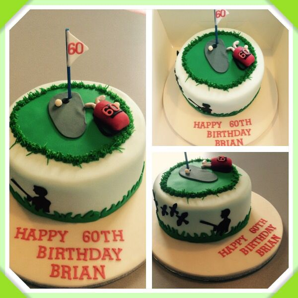 Golf cake for a 60th birthday