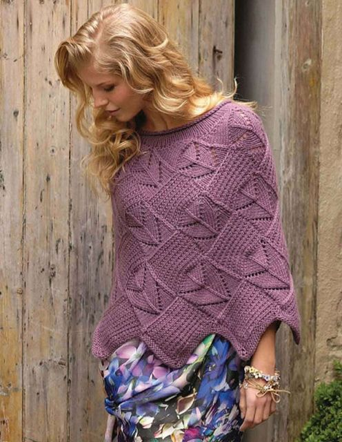Calhoun Lace Poncho, The Knitter 35 by modeknit, via Flickr
