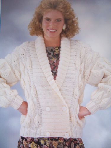 Vintage-Knitting-Pattern-Littlewoods-8144-LADIES-CHUNKY-JACKET-32-42