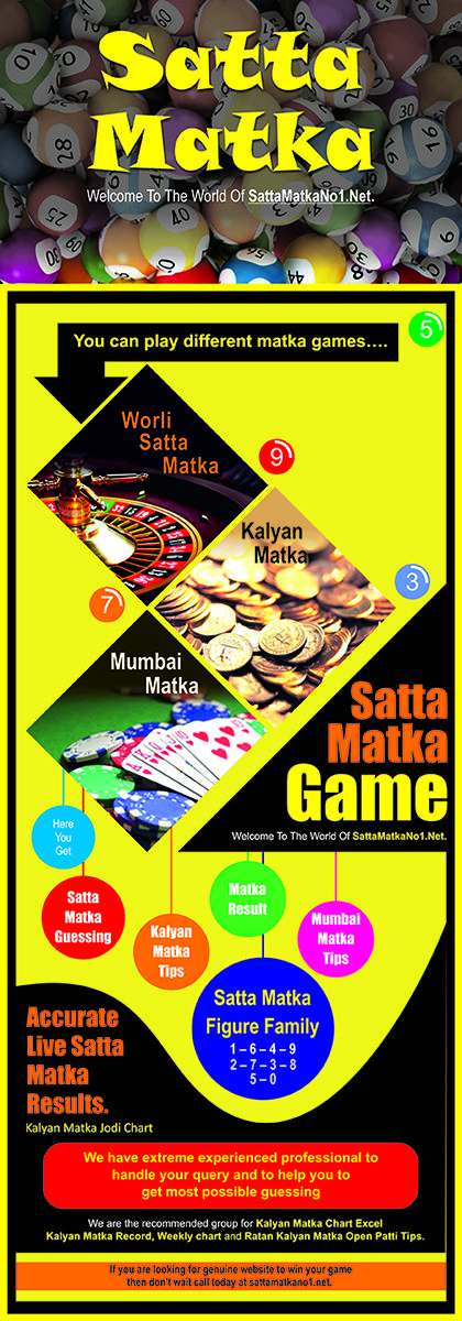 Satta matka | World's No.1 Satta Matka Platform World's No.1 Satta Matka platform where you never have any risk of loss.We have extreme experienced professional to handle your query and to help you to get most possible guessing. if you are looking for genuine website to win your game then don't wait call today at sattamatkano1.net.  visit us:  http://sattamatkano1.net/