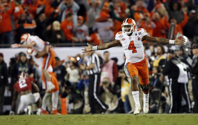The Clemson quarterback led a comeback to beat Alabama for the national title, and his next step is the 2017 NFL Draft.
