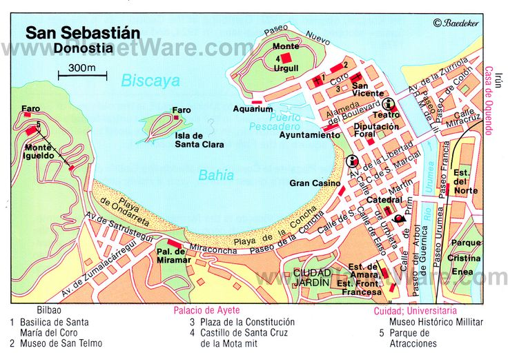 San Sebastián Map - Tourist Attractions
