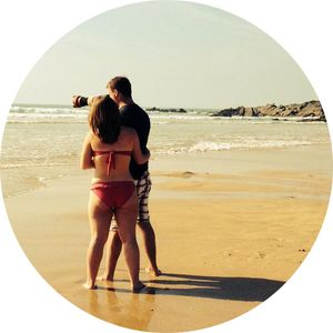 Maiden in Cornwall - About Me - Liv - Fistral Beach love