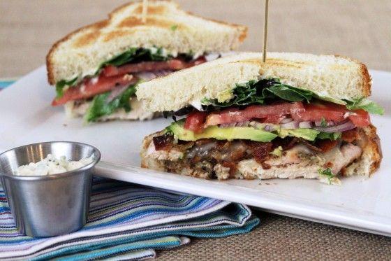 Bacon Avocado Chicken Club with Garlic-Basil Mayo