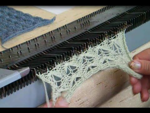 Очень простой Узор машинного вязания на основе перевитий. №46 - YouTube