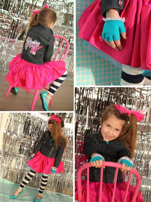 totally 80s rocker girl project run and play week 3 cute halloween costumeshalloween - 80s Rocker Halloween Costume