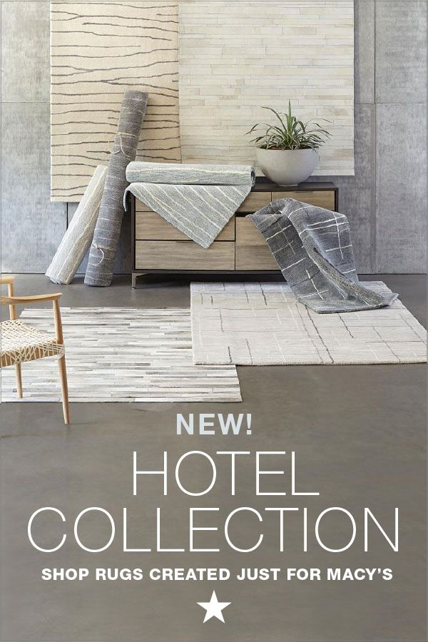 Meet Our New Home Décor Obsession: Hotel Collection Area Rugs. Their Chic  Designs In