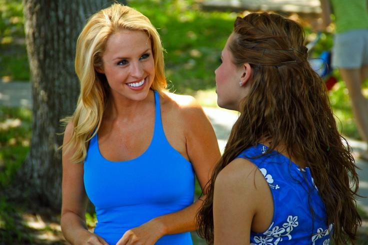 Golf Channel Host Lauren Thompson interviews Mermaid Rebecca.