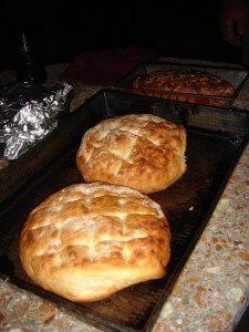 Receta de autentico pan de campo en horno de barro. Super rico con un queso Mar del Plata!