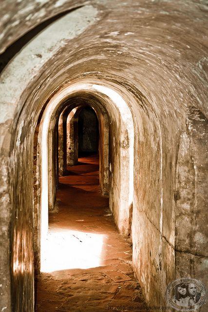 Túneles en el Castillo de San Felipe, Cartagena, Colombia