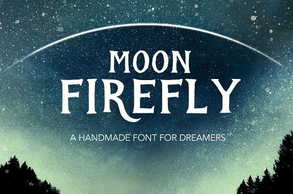 Moon Firefly by Annie Sauvage on @creativemarket