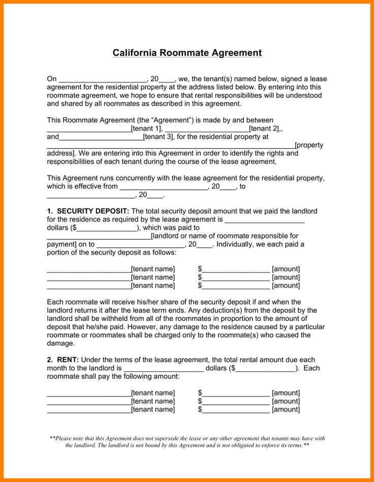 signed lease agreement warehouse clerk Home Design Idea - roommate rental agreement