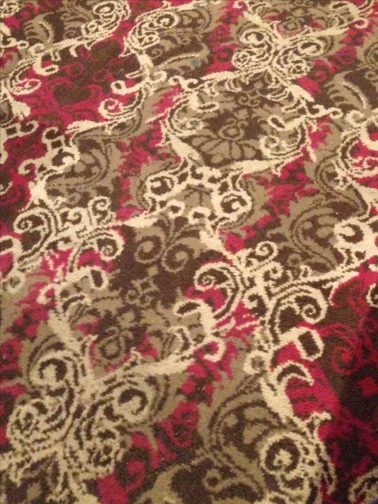 British pub carpet found in the Burns Hotel, York city centre, North Yorkshire - Jan 2017.