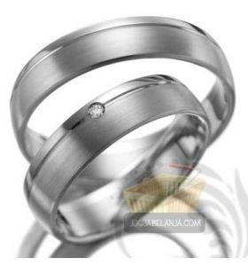 Cincin Kawin Farizah Palladium dan Emas Putih – Cocok untuk Pasangan Muslim