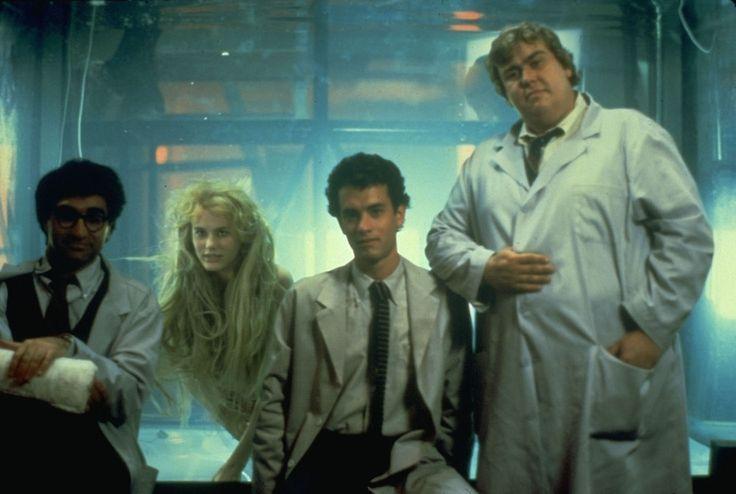 Tom Hanks, Daryl Hannah, John Candy, and Eugene Levy in Splash: Jungfrau am Haken (1984)