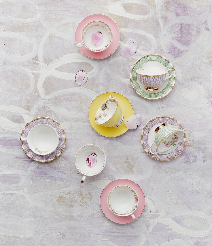 Robert Gordon Australia SS15 collection. Spring Fling cups and saucers. Styling by Hannah and Kate Gordon. Photo by Jarrod Barnes photography.