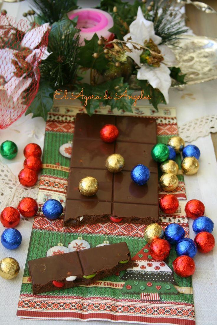 Yema Cake Decor : Turron de chocolate y Lacasitos El agora de angeles ...