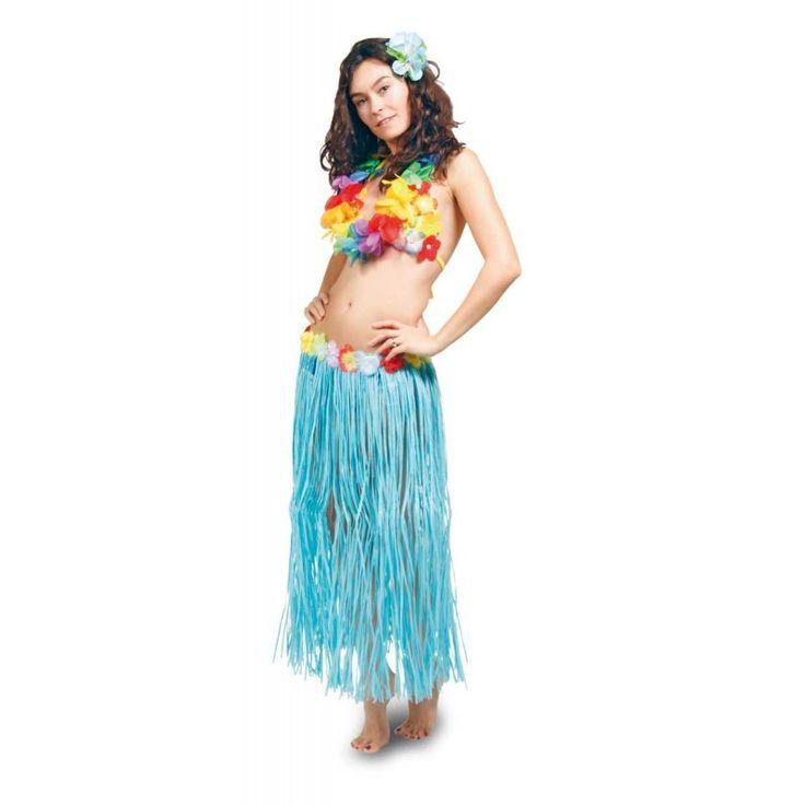 Hawaii Rok 80cm Blauw.