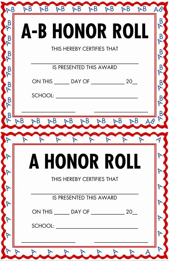 30 Printable Honor Roll Certificates In 2020 With Images