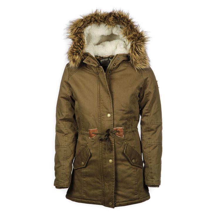 Meiden lange army winterjas van het merk Retour Jeans, super stoer en heerlijk warm | #meisjes #winterjas #kindermode #winter #leger | www.kienk.nl