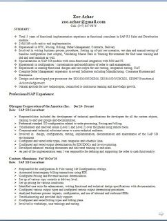 sap sd resume interesting sap sd support consultant resume 21 in
