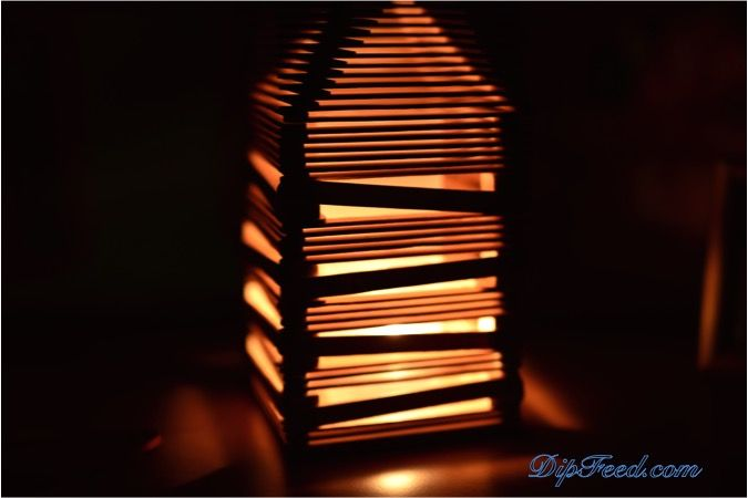 Popsicle stick lamp ( the instructions suck, so try to follow the pictures instead)