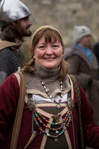 Harlandse vrouw met traditionele sieraden.