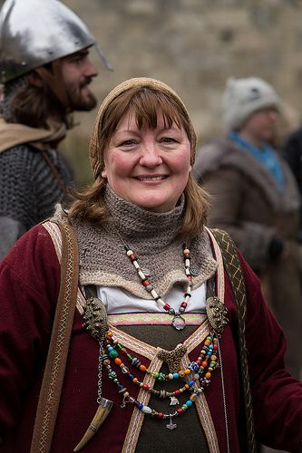 Jorvik Viking Festival 2014 - Dean's Park by alh1, via Flickr - looks like a caftan over the apron dress with the brooches pulled out on top
