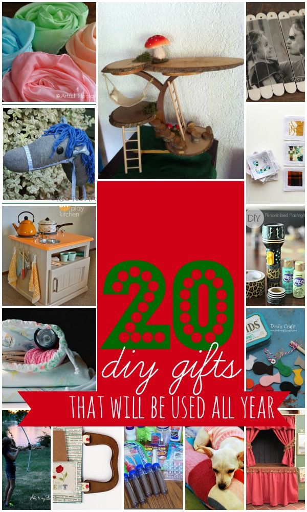 20 homemade gifts that will be used all year!