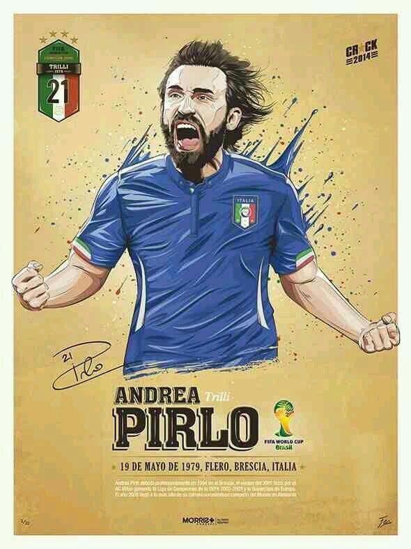 Andrea Pirlo of Italy wallpaper.