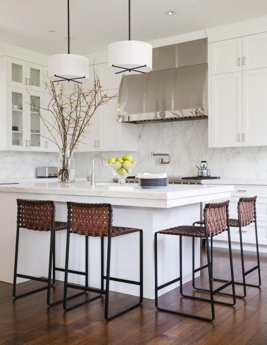 Clean, Modern, White Kitchen by Maine Design