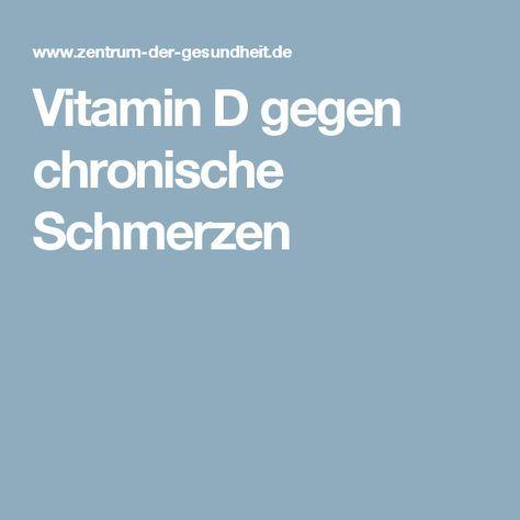 Vitamin D gegen chronische Schmerzen