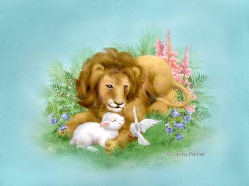 Cute Lion Lamb Clip Art