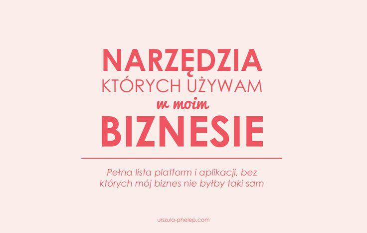 Narzędzia, których używam w moim biznesie #urszulamarketing #marketing #marketingpolska #blog #urszulaphelep #wtyczkiwordpress #wordpress #narzedziablogowe