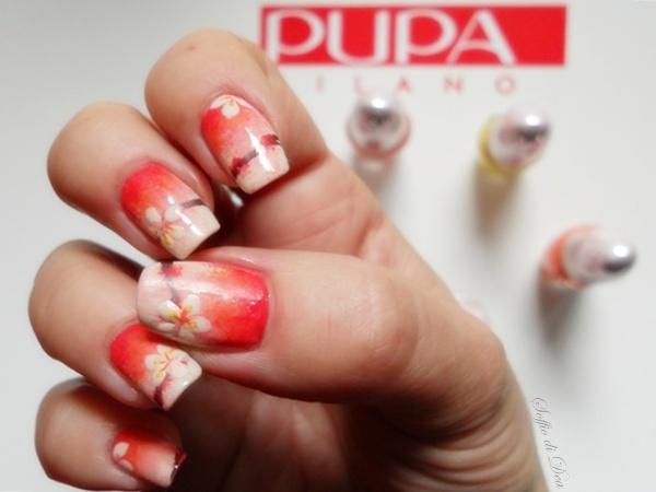 """""""PRINTEMPS"""", nail art ispirata a un abito del brand Alice+Olivia, disegnato da Stacey Bendet e realizzata per Pupa Nail Academy. Qui il tutorial: http://www.pupa.it/ita/pupa-nail-academy/Video-nail-academy/printemps-nail-art.aspx"""