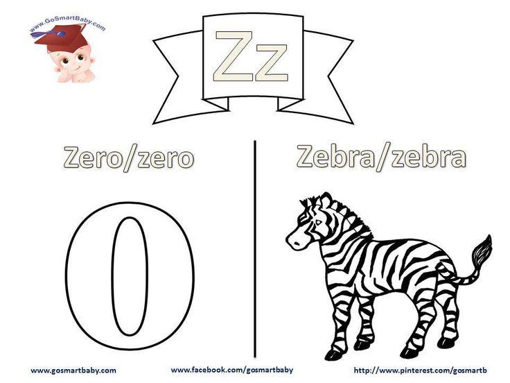 Smart Baby - Coloring the alphabet - letter Z z