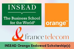 INSEAD Orange Endowed MBA Scholarship for Emerging Markets in France
