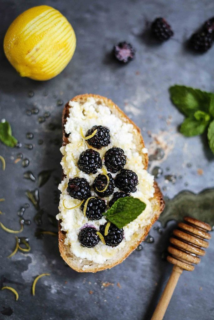 blackberry & honey crostini: