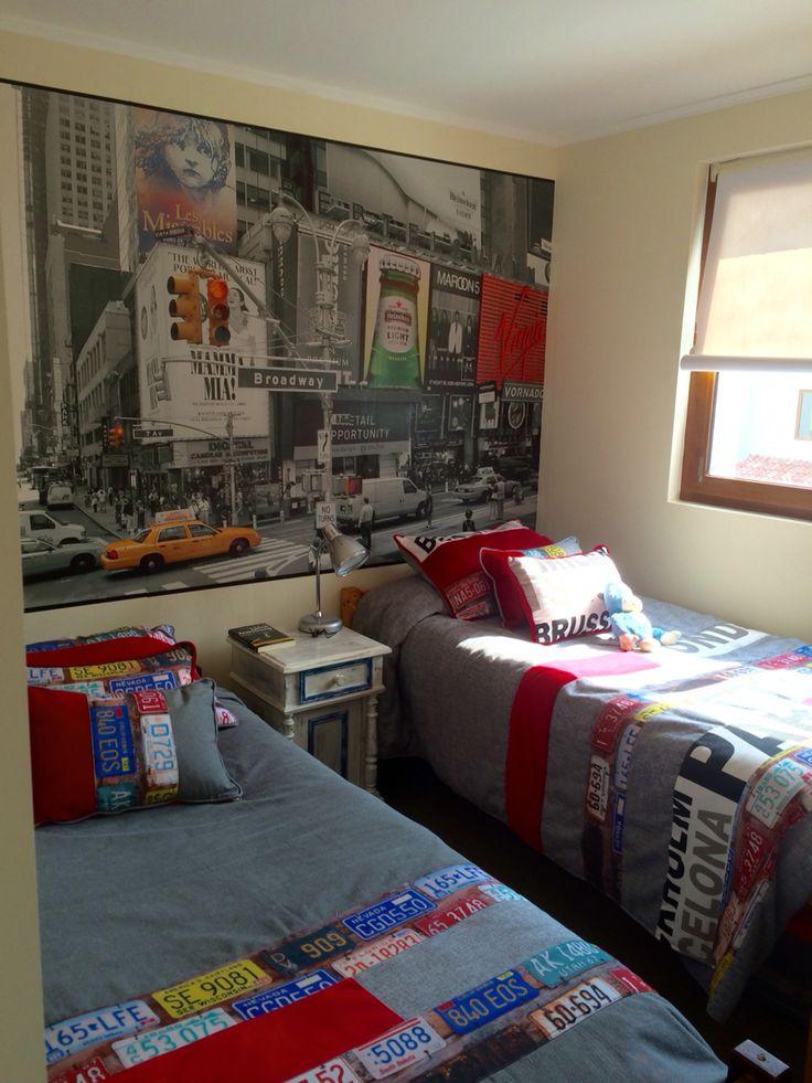 NY en casa papel mural www.ecodigital.cl
