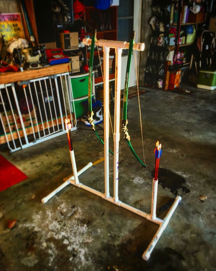 Homemade PVC Bow stand