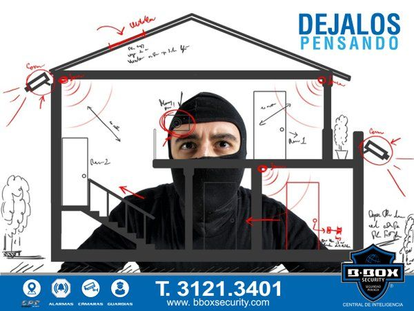 En BBOX SECURITY Protegemos tu patrimonio. Monitoreo de alarma / Guardia virtual CCTV Rastreo GPS / Seguridad privada / Custodias / Torres de vigilancia / Cajas fuertes / Cañón de niebla / Seguridad electrónica. T. 3121.3401 www.bboxsecuerity.com