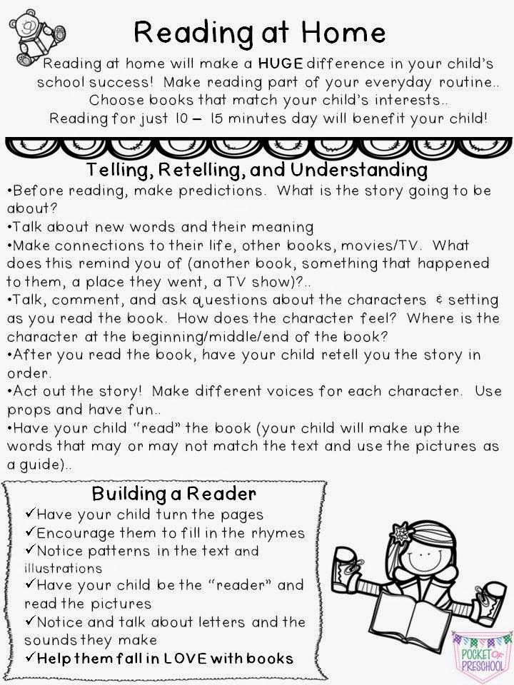 monthly reading logs for home parent letter journal at home reading logs pre k homework an 884
