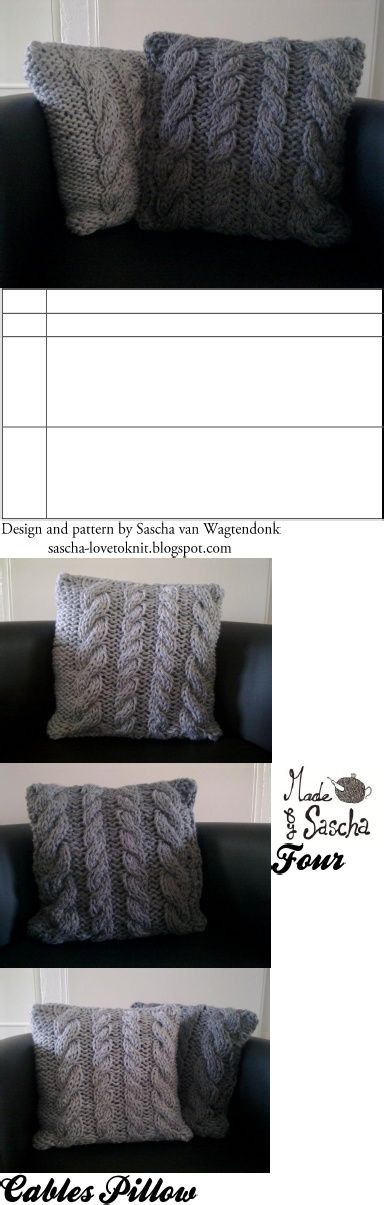 cable knit pillow covers. Knit PillowFree KnittingKnitting PatternsCushion ... & 33 best images about Tricot on Pinterest | Cable Ravelry and Knit ... pillowsntoast.com