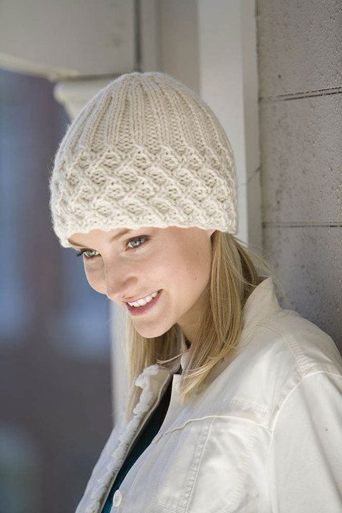 "Classic Elite Yarns -  - ""Forbidden"" Lattice Ribbed Hat"