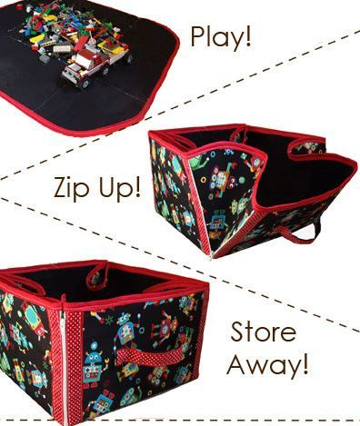 Play, Zip, and Store Convertible Tote - PDF Sewing Pattern: