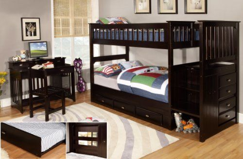 Discovery World Furniture Twin over Twin Staircase Bunk Bed with 3 Drawer Storage, Espresso Discovery World Furniture http://www.amazon.com/dp/B00T7NQAGO/ref=cm_sw_r_pi_dp_bSrRwb1BSBK3C