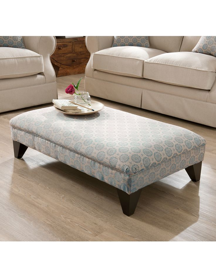asda living room furniture lyme footstool floral in duck egg blue footstools asda 17903